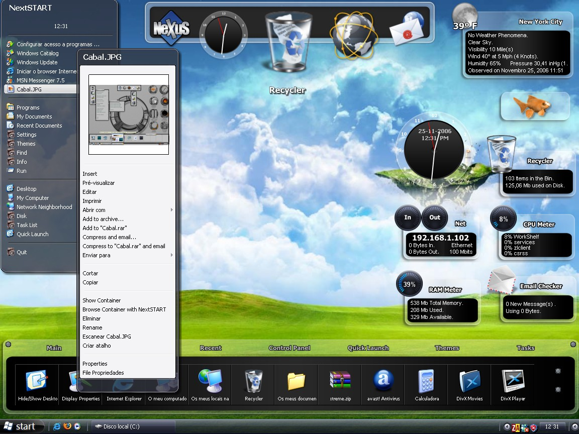Winstep Xtreme is a powerful Windows User Interface Replacement.